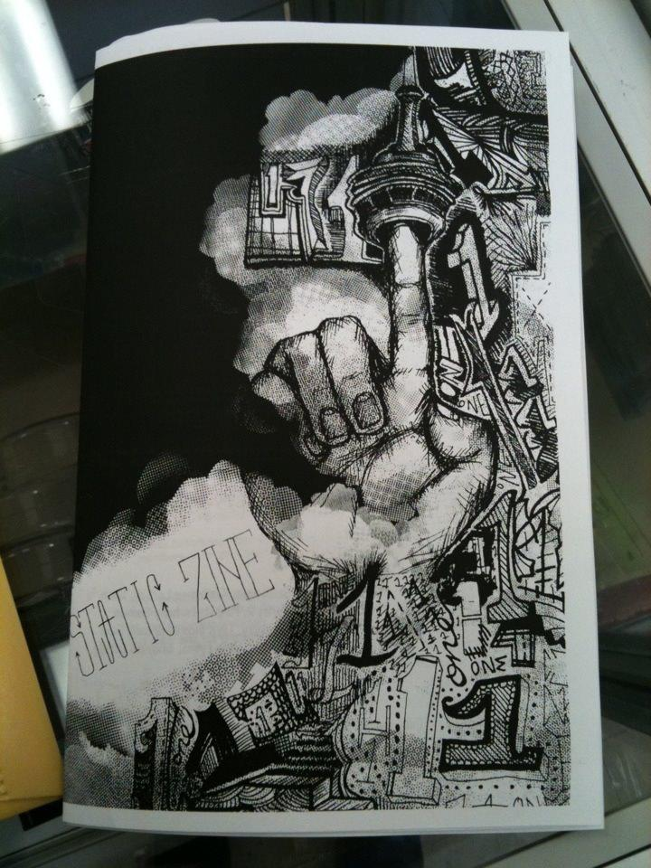 static zine second issue cover