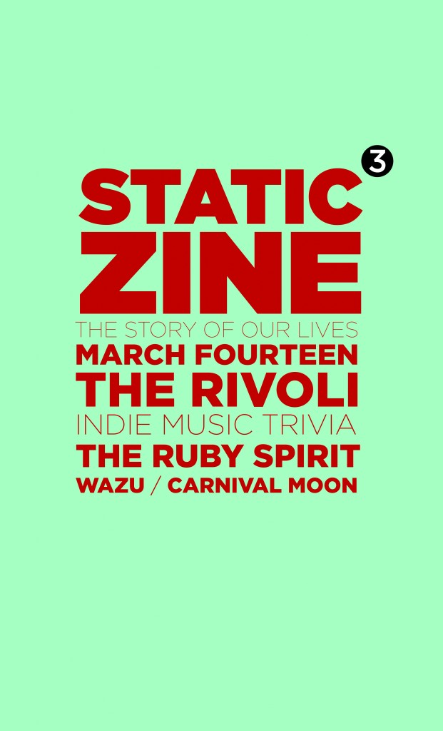 static zine issue 3 event poster