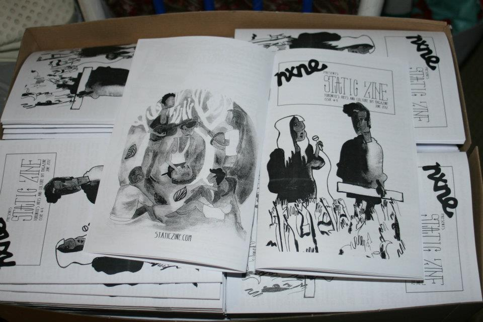 static zine issue 4 covers