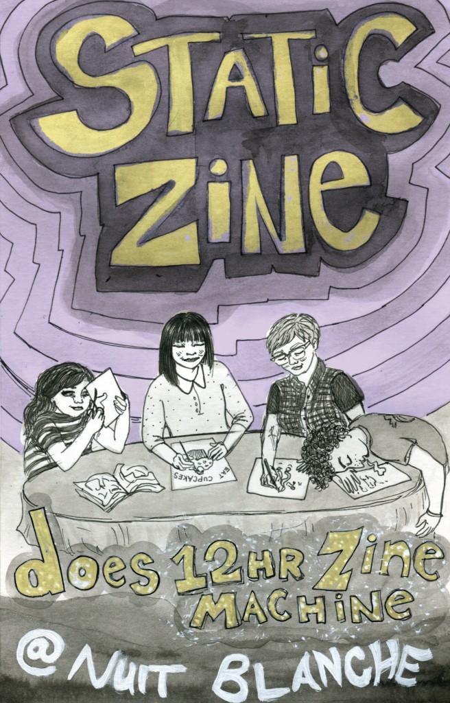 Static Zine Cover Colour 12HR ZINE marta chudolinska nuit blanche